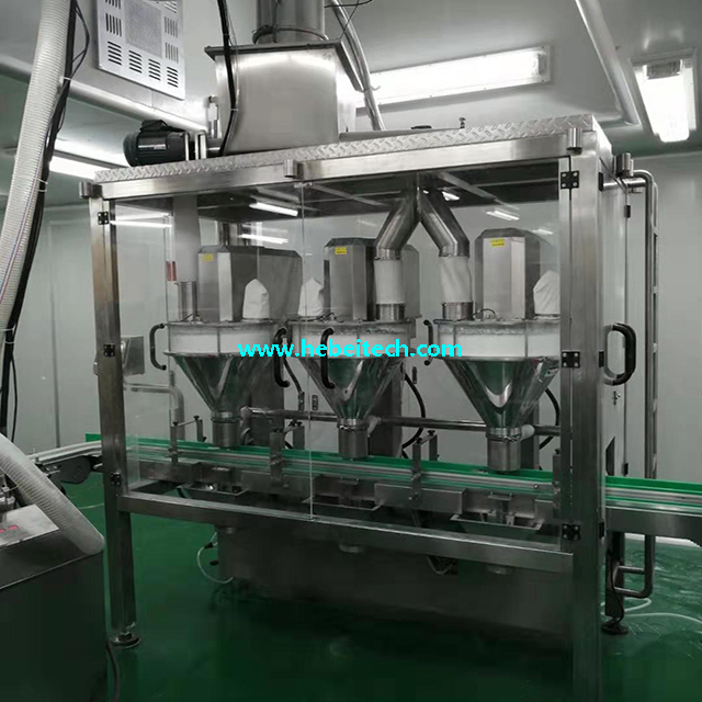 Tinplate Milk Powder Chicken Powder Can Filling Machine China Manufacture